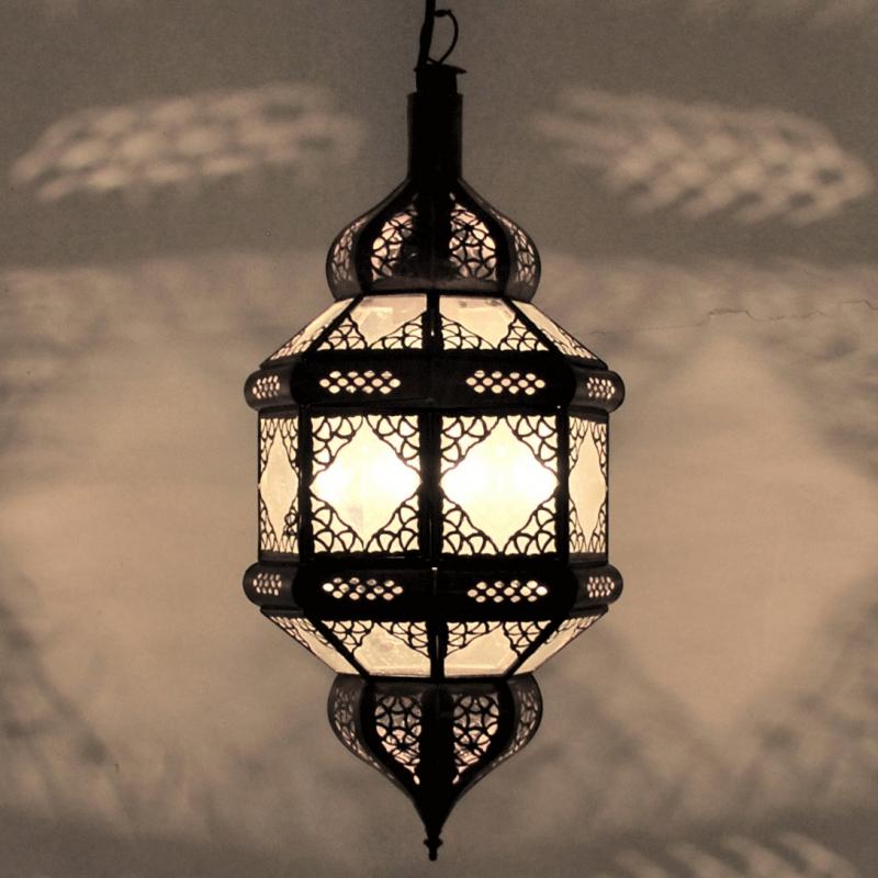 orientalische laterne marokkanische lampe arabische h ngeleuchte titia milchglas ebay. Black Bedroom Furniture Sets. Home Design Ideas