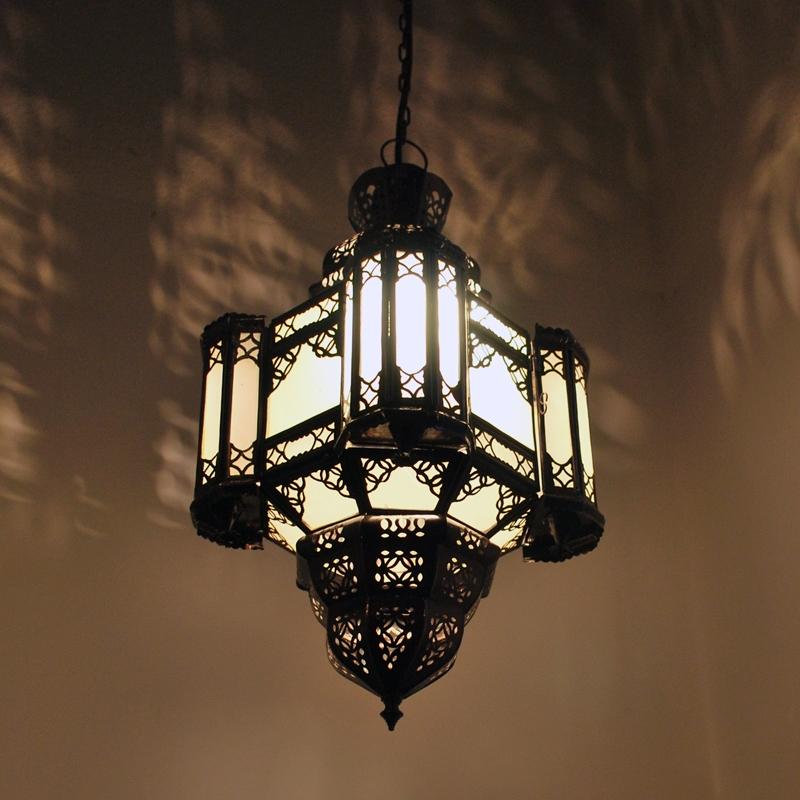 Orientalische Lampe Hängeleuchte Marokkanische Latarne Hängelampe AMARA H50cm