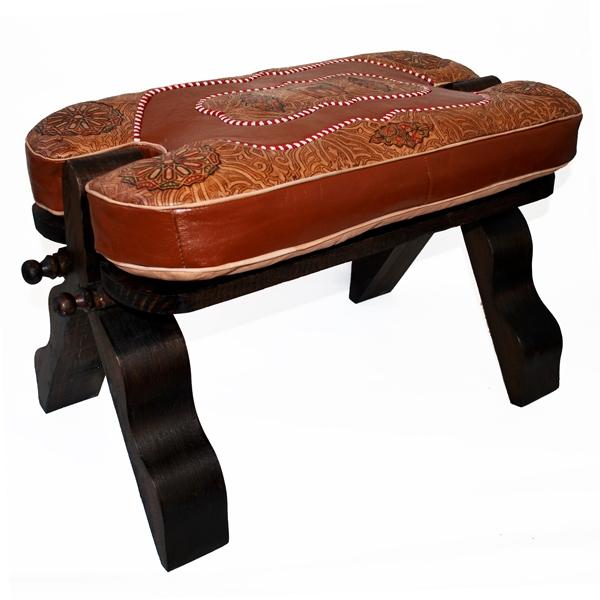 orientalischer marokko kamelhocker echtleder fu hocker. Black Bedroom Furniture Sets. Home Design Ideas