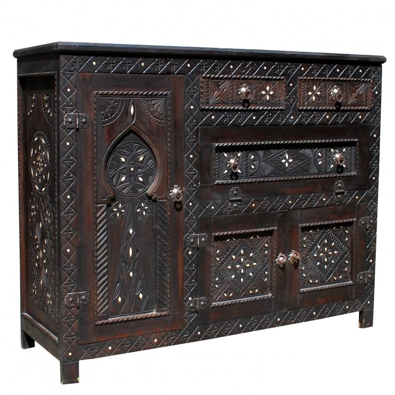 Arabes Commode Handarbeit Oriental Marocain Armoire Adimat Ebay
